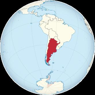 Lage von Argentinien