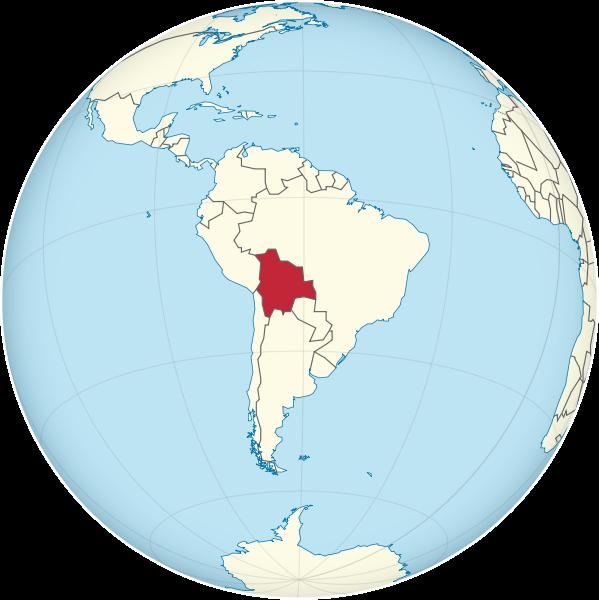 Lage von Bolivien