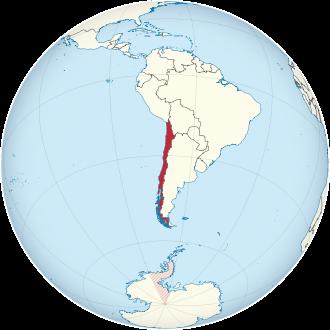 Lage von Chile
