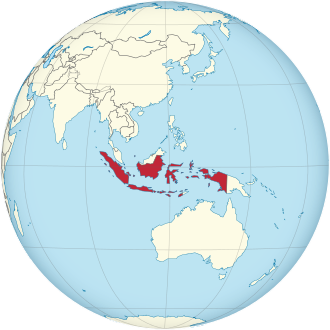 Lage von Indonesien