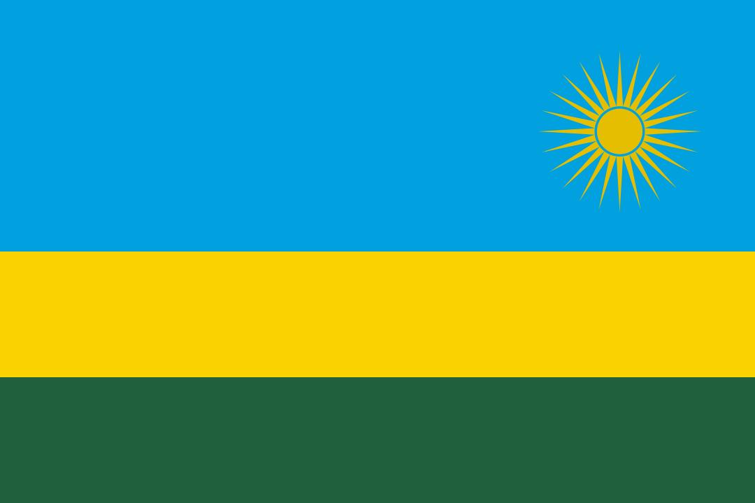 Flagge von Ruanda