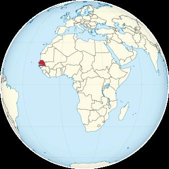 Lage von Senegal