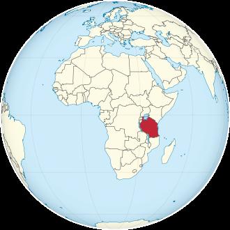 Lage von Tansania