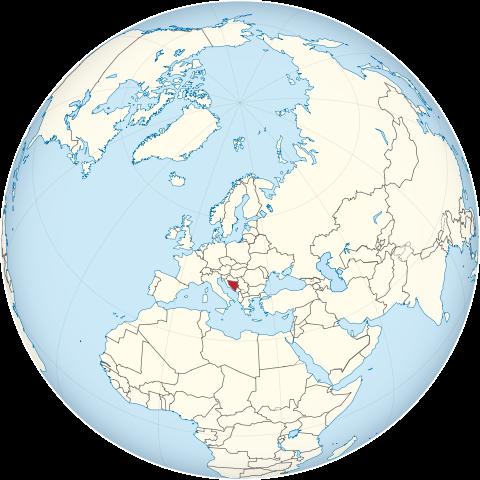 Lage von Bosnien und Herzegowina