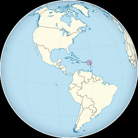 Lage von St. Kitts