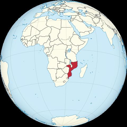 Lage von Mosambik