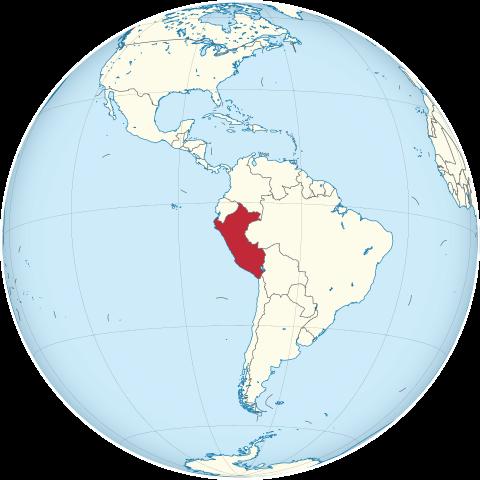 Lage von Peru