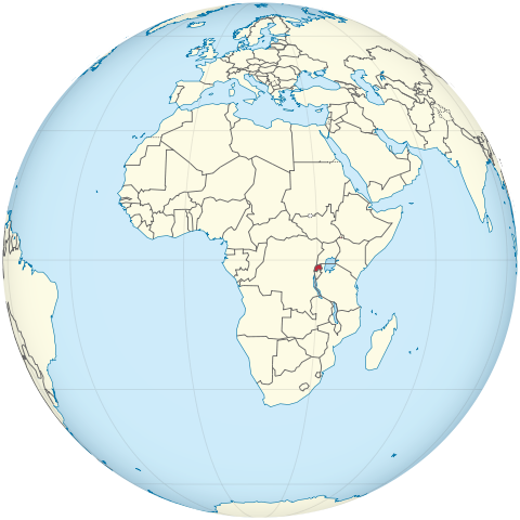 Lage von Ruanda