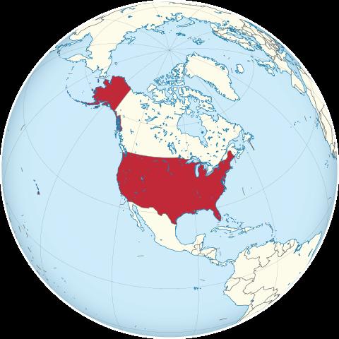 Lage von USA